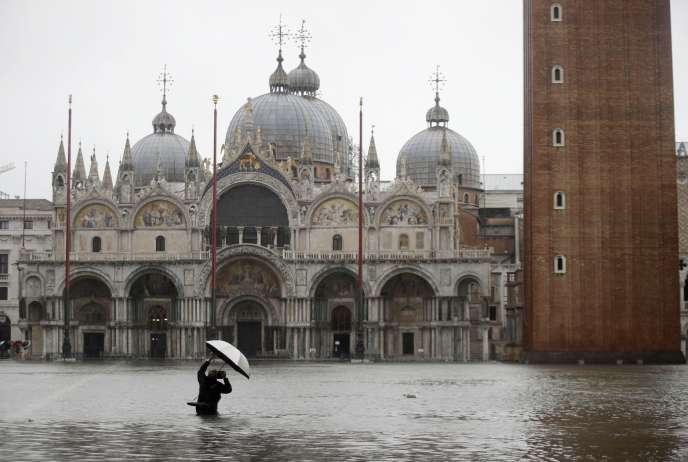 San Marco, Venezia, Italia, il 12 novembre.