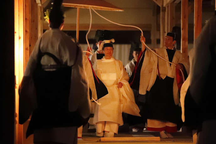 The Emperor of Japan, Naruhito, during his Daijosai, the religious ceremony following his enthronement, on November 14, at the Imperial Palace, Tokyo.