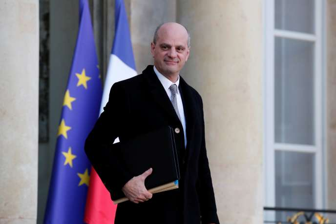 The Minister of National Education, Jean-Michel Blanquer, at the Elysée Palace on December 18, 2019.