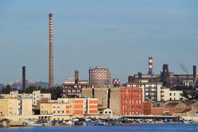 Il acièrie Ilva, a Taranto, nel mese di novembre.