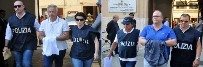 "Mafia leaders Francesco Inzerillo (left) and Salvatore Gambino, arrested in connection with the Italian-American operation ""New Connection"" on July 17, 2019."