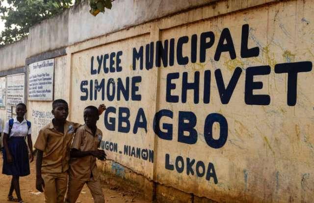 Le lycée Simone Ehivet Gbagbo de Yopougon, quartier d'Abidjan, où Laurent-Barthélémy Ani Guibahi était élève en classe de 4e, le 10 janvier 2020.