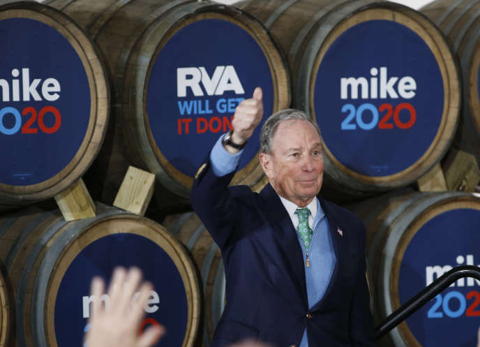 Mike Bloomberg in Richmond, Virginia, February 15, 2020.