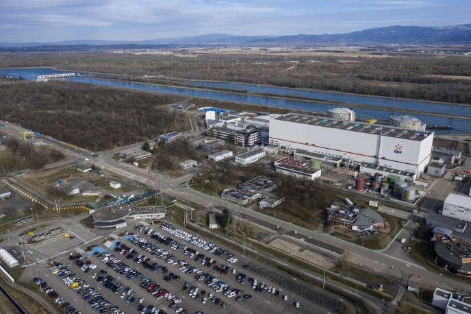 Aerial view of the Fessenheim nuclear power plant (Haut-Rhin), February 21.