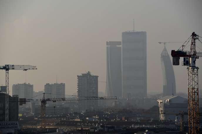 Milan sous la pollution, le 3 mars.