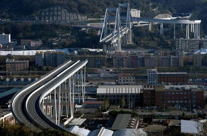 Il ponte di Genova, il 14 settembre 2018.