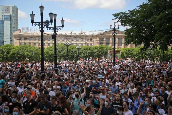 Il s'agit de la manifestation la plus importante de ces trente dernières années à Khabarovsk, uneville de 600000 habitants.