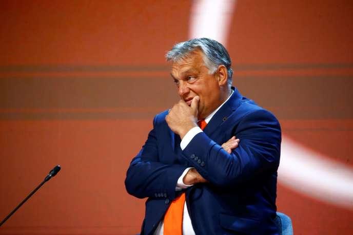 Le premier ministre hongrois, Viktor Orban, auForum stratégique de Bled (Slovénie) le 31 août.