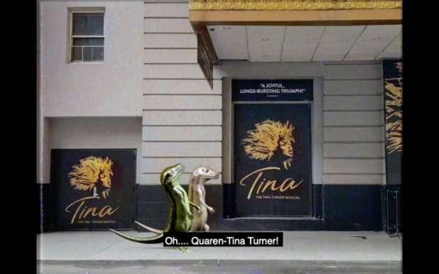 Dans les huit mini-épisodes de «2 Lizards», deux sauriens, interprétés par Meriem Bennani et Orian Barki, se baladent en conversant dans New York confiné.