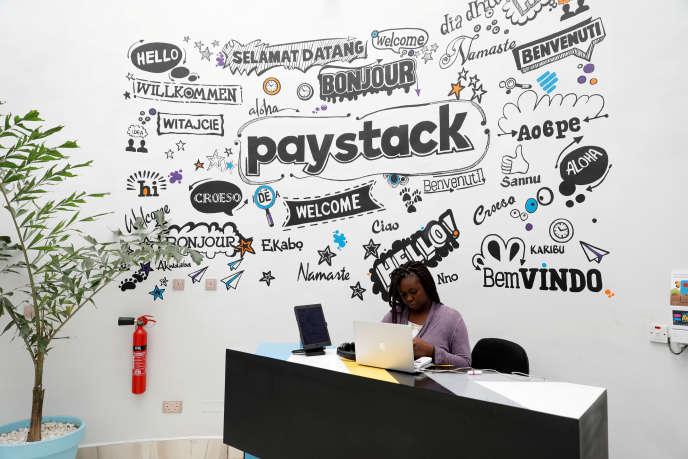 Dans les bureaux de Paystack, à Lagos, en juin 2018.