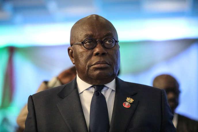 Le président ghanéen, Nana Akufo-Addo, à Abuja (Nigeria), le 21décembre 2019.