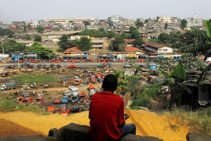 Sur la colline d'Attécoubé, à Abidjan, en février 2017.