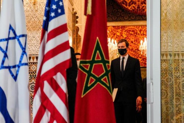 Le gendre de l'ex-président américain Donald Trump, Jared Kushner, à Rabat, le 22 décembre 2020.