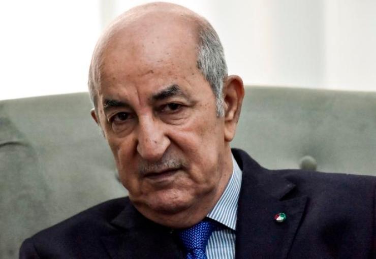 Le président algérien Abdelmadjid Tebboune à Alger le 21 janvier 2020.