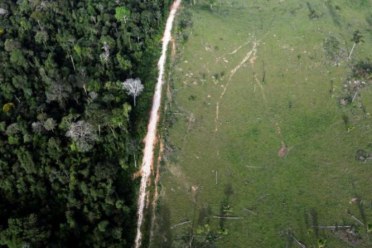 Près du Parc national d'Amazonie, à Itaituba, Etat du Para (Brésil), en 2012.