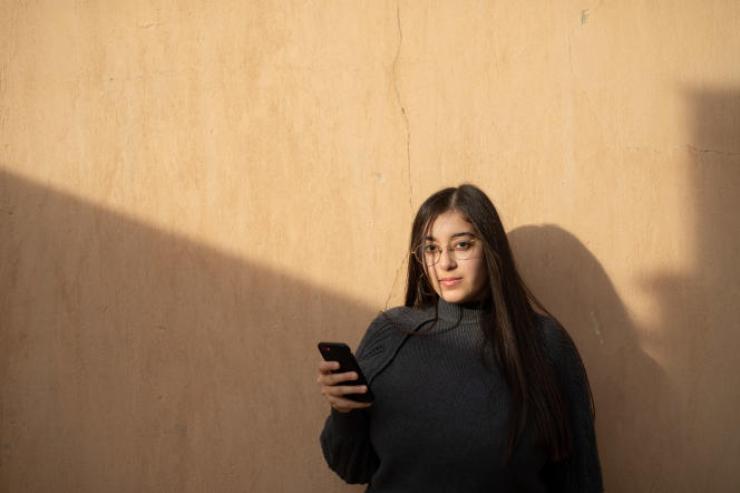 Zeina Amr Al-Dessoky, 20ans, dénonce le harcèlement de rue sur son compte Instagram Catcalls in Cairo. Ici au Caire, le 12 janvier.