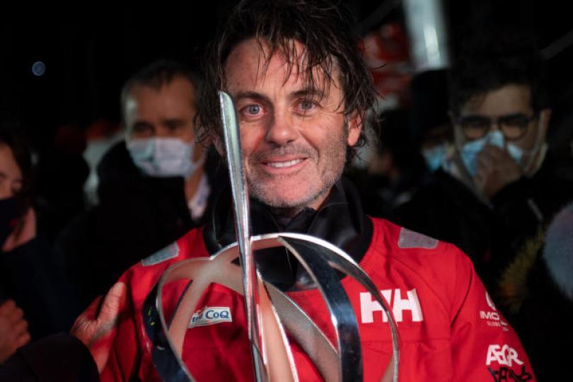 Yannick Bestaven, jeudi 28 janvier, à son arrivée aux Sables-d'Olonne.
