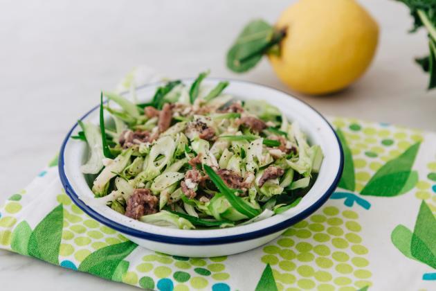 La salade de puntarelle, un incontournable des tables romaines.