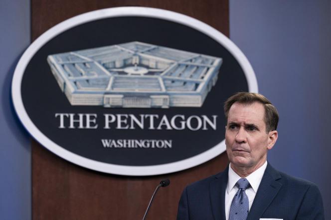 Le porte-parole du Pentagone, John Kirby, lors d'une conférence de presse le 25 février.