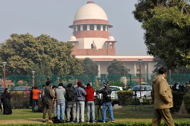 Before the Indian Supreme Court, New Delhi, in January 2020.