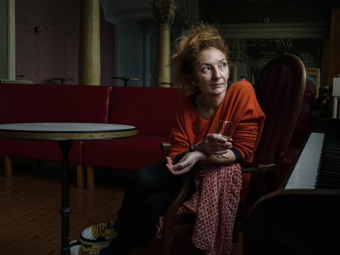 Corinne Masiero at the Sébastopol theater in Lille, March 16.