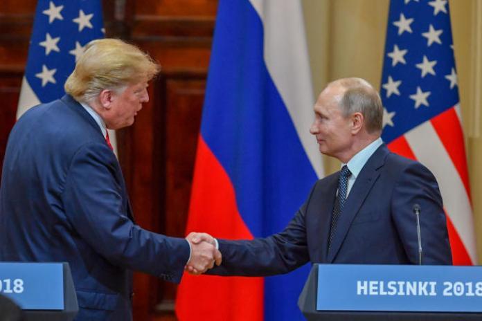 Donald Trump et Vladimir Poutine, le 16 juillet 2018, à Helsinki.