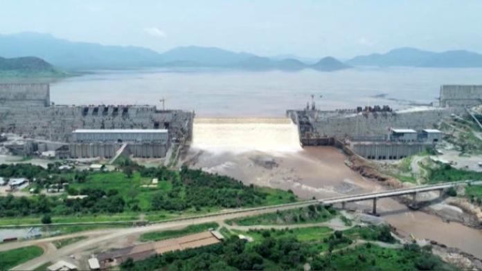 Le Grand barrage de la Renaissance éthiopienne, en juillet 2020.