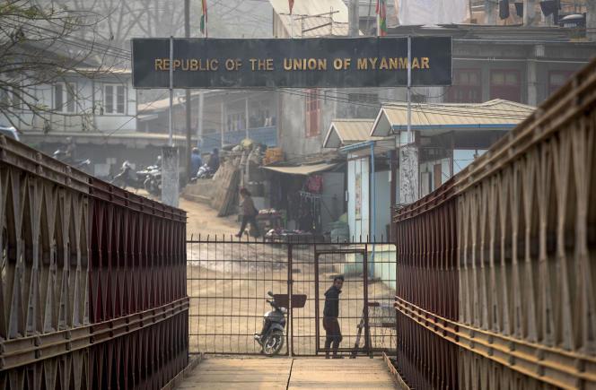 A la frontière entre la Birmanie et l'Inde, dans leMizoram, le 20 mars 2021.