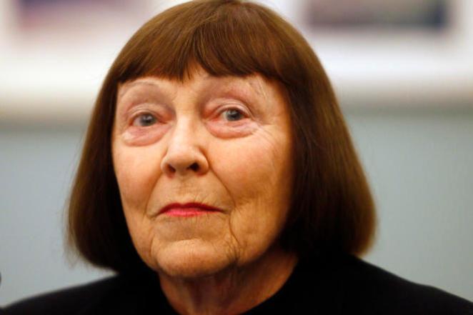 La photographeJune Newton lors de la rétrospective consacrée au Gand Palais à son époux Helmut Newton, à Paris en 2012.