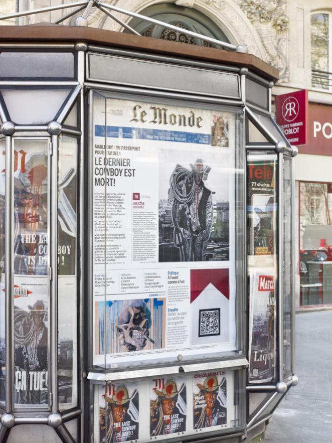Installation «Kiosque Fantôme», de ZEVS.