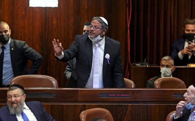 Itamar Ben-Gvir, le chef de file du parti suprémaciste juif Otzma Yehudit, le 6 avril, à la Knesset, à Jérusalem.