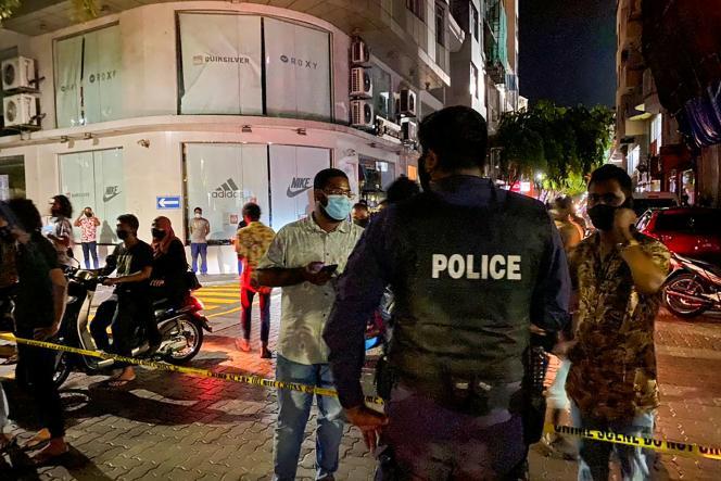 A Malé, après l'attaque contre l'ex-président Mohamed Nasheed, le 6 mai.