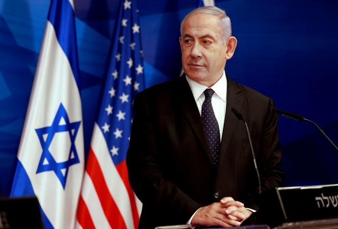 Le premier ministre israélien, Benyamin Nétanyahou, lors d'une conférence de presse, à Jérusalem, le 25 mai.