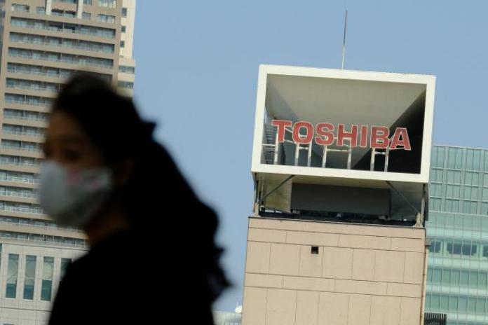 Au siège de Toshiba, à Tokyo, le 7 avril 2021.