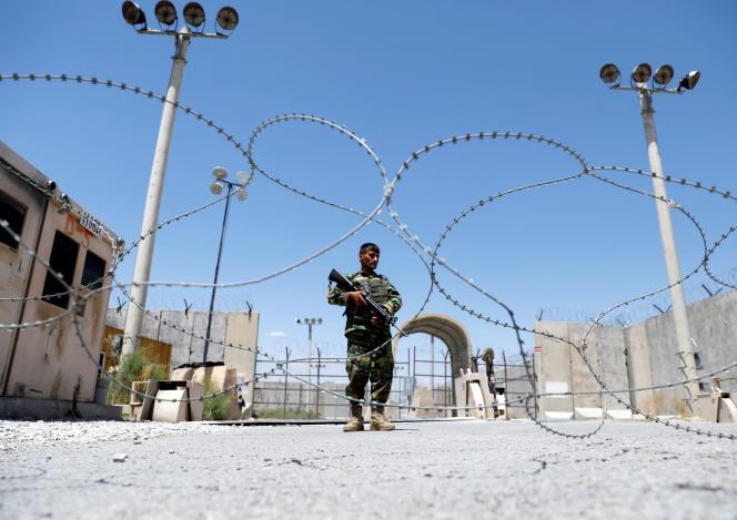Un soldat desforces afghanes à la base de Bagram, le 2 juillet 2021.