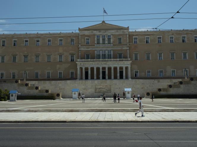 Le Parlement grec à Athènes, en juillet 2021.