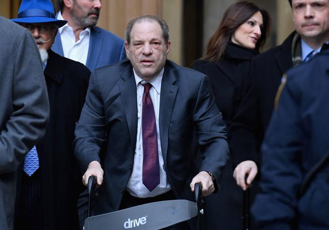 Harvey Weinstein devant le tribunal pénal de Manhattan, à New York, le 20 février 2020.