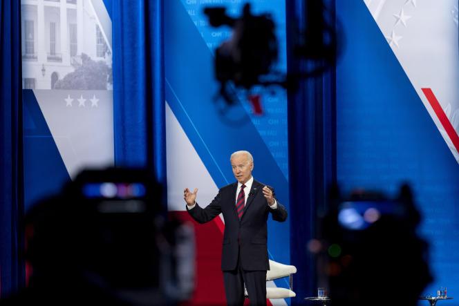 Le président américain, Joe Biden, à Cincinnati, le 21juillet2021.