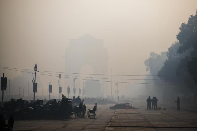 Dans le centre de New Delhi, le 14 janvier 2021.