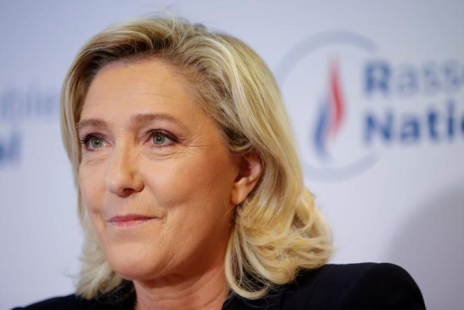 La candidate RN à l'élection présidentielle, Marine Le Pen, à Nanterre, le 27 juin 2021.
