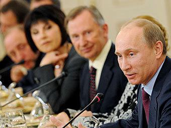 Владимир Путин на встрече с руководителями российских СМИ. Фото ИТАР-ТАСС, Артем Коротаев