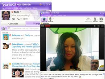 Yahoo! Messenger. Скриншот с сайта messenger.yahoo.com