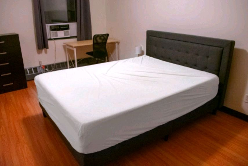 queen mattress and bed frame barely used