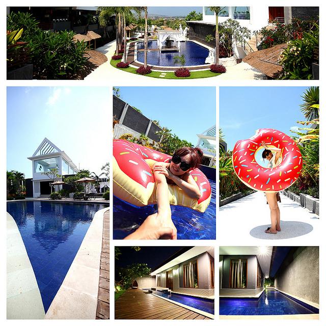 [峇里島]環繞泳池超夢幻~整天當個懶骨頭~!seven angels villa七天使別墅