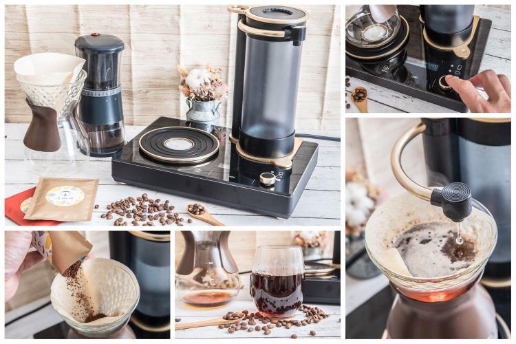 [美型家電]GEESAA Coffee Dancer智慧型手沖咖啡機,手沖咖啡零技術!有了它,人人都是手沖咖啡大師!