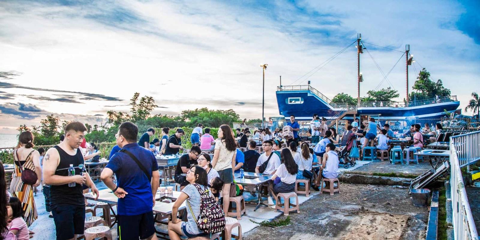 [小琉球美食]小琉球金獅子號/小琉球最美景觀餐廳,海景第一排夕陽超無敵!