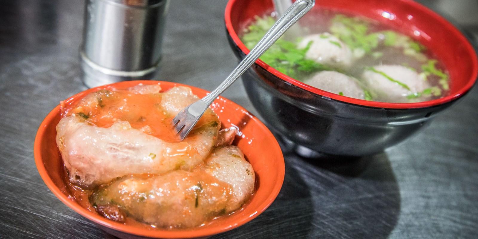 [新竹美食]玉龍肉圓/QQ薄皮肉圓,吃完餡料留下來加湯喝,超讚!