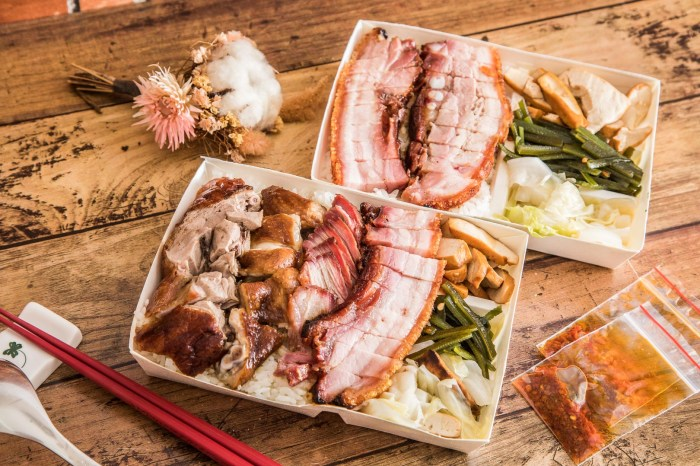 [桃園美食]燒臘大師(府城燒臘)/航空母艦級燒臘便當!燒臘肉肉堆好堆滿,滿盤脆皮燒肉便當只要90元!