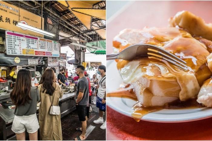 台中美食 》王家菜頭粿糯米腸,台中第二市場排隊名店,大排長龍日常