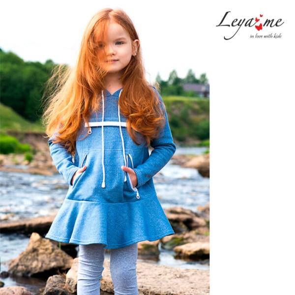 Трикотажное платье-парка на девочку